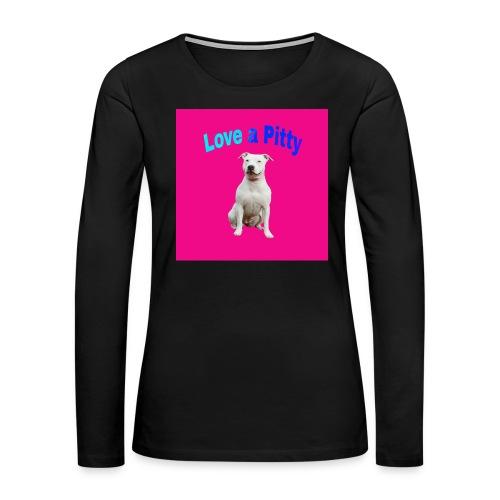 Pink Pit Bull - Women's Premium Long Sleeve T-Shirt