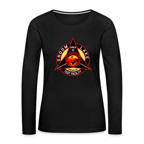 THE AREA 51 RIDER CUSTOM DESIGN - Women's Premium Slim Fit Long Sleeve T-Shirt