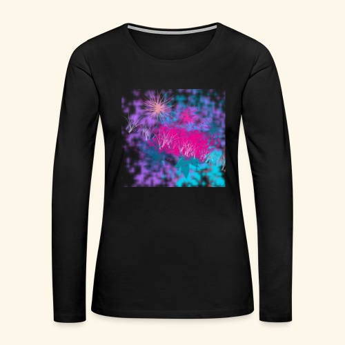 Abstract - Women's Premium Slim Fit Long Sleeve T-Shirt