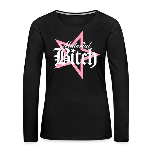 Material Bitch Logo - Women's Premium Long Sleeve T-Shirt
