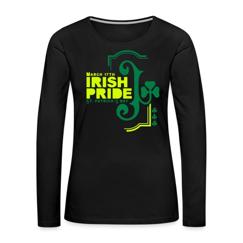 IRISH PRIDE - Women's Premium Slim Fit Long Sleeve T-Shirt
