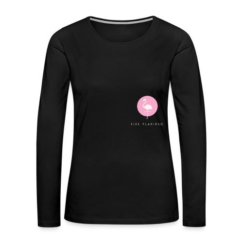 Pink Flamingo Logo White - Women's Premium Long Sleeve T-Shirt