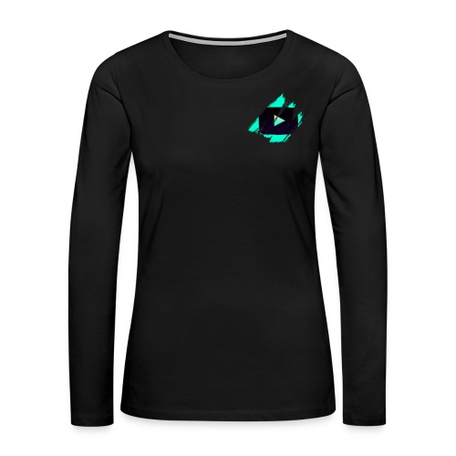 DRFT Clothing: Cyan Youtube is Life - Small Badge - Women's Premium Long Sleeve T-Shirt
