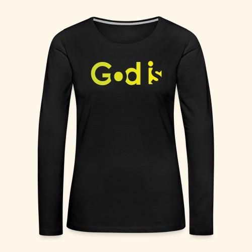 GOD IS #7 - Women's Premium Long Sleeve T-Shirt