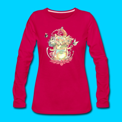 Contraption Brahma Neko - Women's Premium Long Sleeve T-Shirt