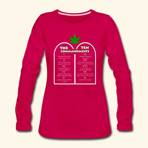 The Ten Commandments of cannabis - Women's Premium Long Sleeve T-Shirt