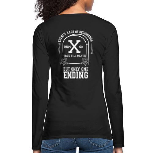 True Till Death Montreal SXE - Women's Premium Slim Fit Long Sleeve T-Shirt