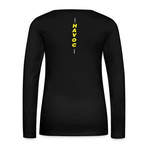 Classic Havoc w/Back - Women's Premium Slim Fit Long Sleeve T-Shirt