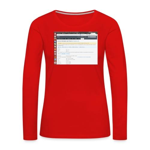 Screenshot from 2016 09 07 02 14 53 - Women's Premium Long Sleeve T-Shirt