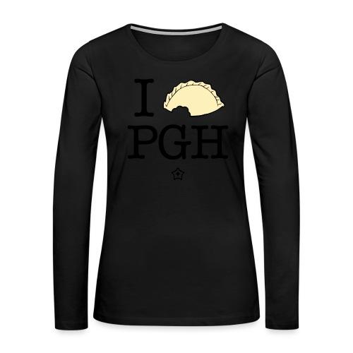 I pierog PGH - Women's Premium Slim Fit Long Sleeve T-Shirt