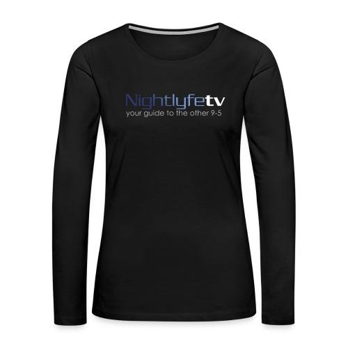 NTV Logo Full - Women's Premium Slim Fit Long Sleeve T-Shirt