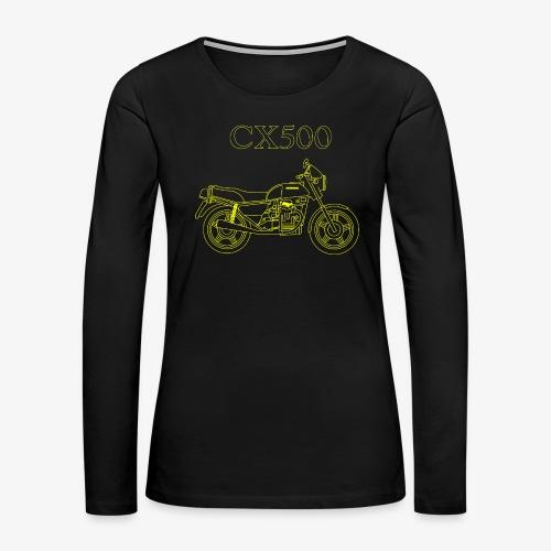 CX500 line drawing - Women's Premium Long Sleeve T-Shirt
