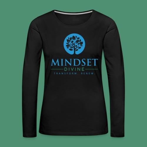 Mindset Divine logo 01 - Women's Premium Slim Fit Long Sleeve T-Shirt