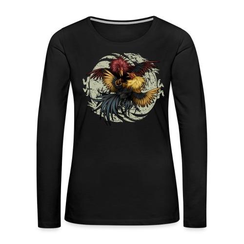 Ying Yang Gallos by Rollinlow - Women's Premium Long Sleeve T-Shirt