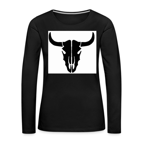 Longhorn skull - Women's Premium Long Sleeve T-Shirt