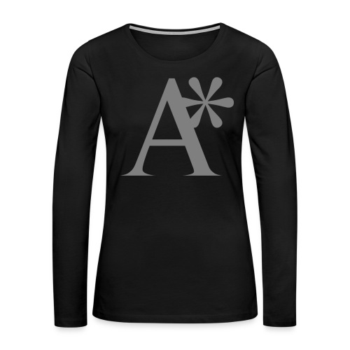 A* logo - Women's Premium Slim Fit Long Sleeve T-Shirt