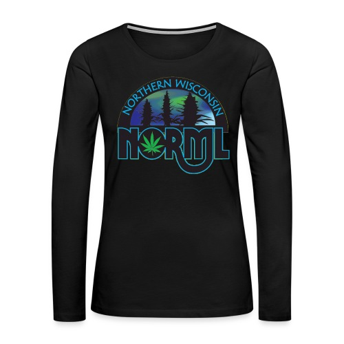 Northern Wisconsin NORML Official Logo - Women's Premium Slim Fit Long Sleeve T-Shirt