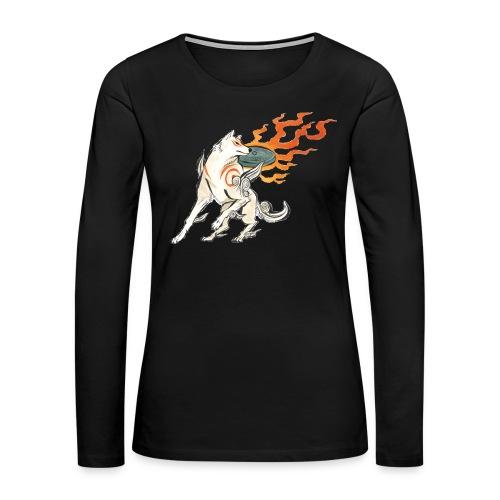 Fire wolf - Women's Premium Long Sleeve T-Shirt