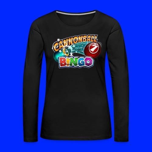 Vintage Cannonball Bingo Logo - Women's Premium Slim Fit Long Sleeve T-Shirt