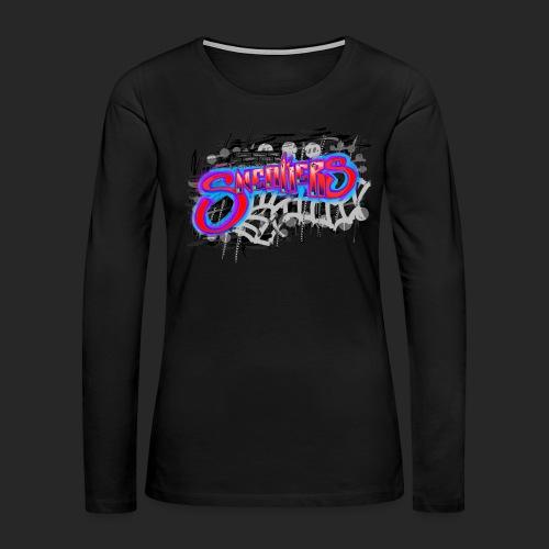Sneakers Graffiti - Women's Premium Long Sleeve T-Shirt