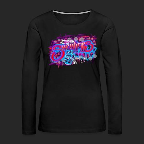 Sneakers Graffiti Design - Women's Premium Long Sleeve T-Shirt