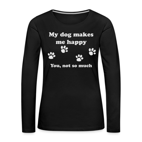 dog_happy - Women's Premium Slim Fit Long Sleeve T-Shirt