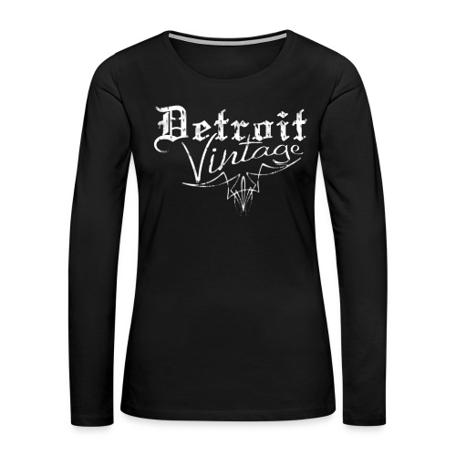 Detroit Vintage - Women's Premium Slim Fit Long Sleeve T-Shirt