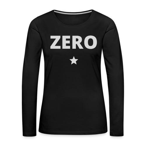 ZERO STAR (light grey) - Women's Premium Slim Fit Long Sleeve T-Shirt