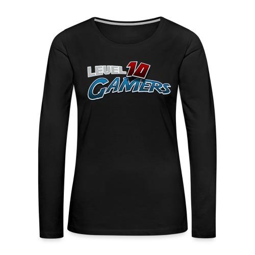 Level10Gamers Logo - Women's Premium Slim Fit Long Sleeve T-Shirt