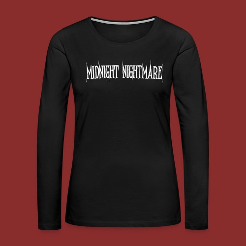 Midnight Nightmare Logo-w - Women's Premium Long Sleeve T-Shirt
