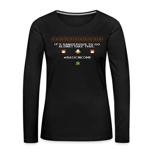 Legend of #Basicincome - Women's Premium Slim Fit Long Sleeve T-Shirt