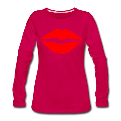 Red Lips Kisses - Women's Premium Long Sleeve T-Shirt