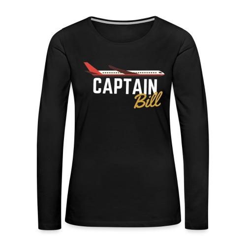 Captain Bill Avaition products - Women's Premium Long Sleeve T-Shirt