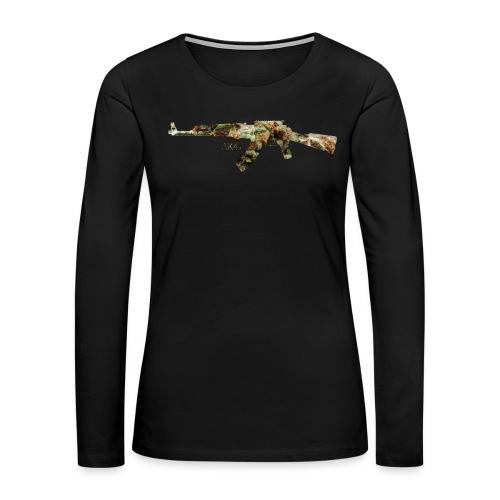 AK-47.png - Women's Premium Slim Fit Long Sleeve T-Shirt