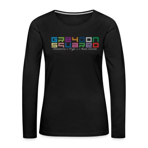 colorfulLOGO2 png - Women's Premium Slim Fit Long Sleeve T-Shirt