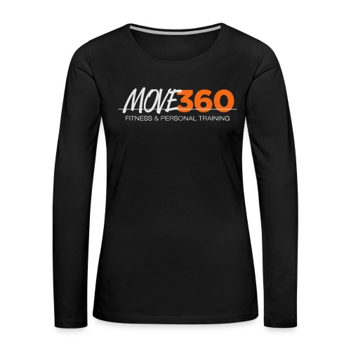 Move360 Logo LightGrey - Women's Premium Slim Fit Long Sleeve T-Shirt