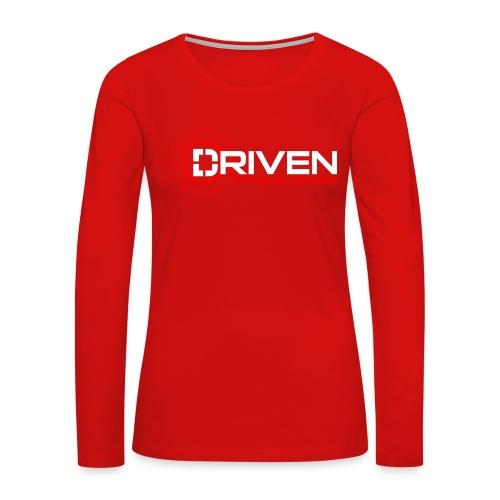Driven Fitness Horizontal Logo - Women's Premium Long Sleeve T-Shirt