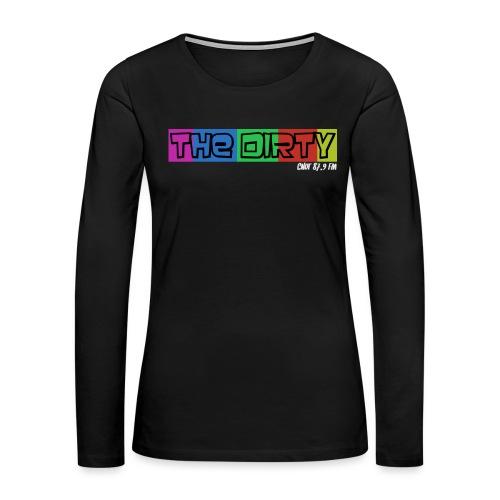 The Dirty FM transparent - Women's Premium Slim Fit Long Sleeve T-Shirt