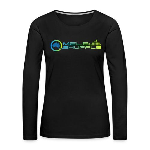 Melbshuffle Gradient Logo - Women's Premium Long Sleeve T-Shirt