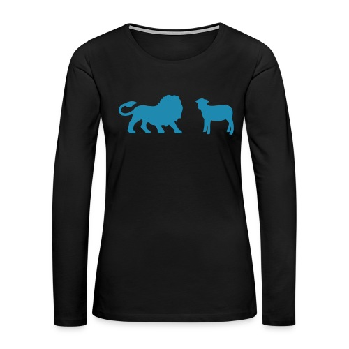 Lion and the Lamb - Women's Premium Slim Fit Long Sleeve T-Shirt