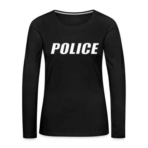 Police White - Women's Premium Slim Fit Long Sleeve T-Shirt