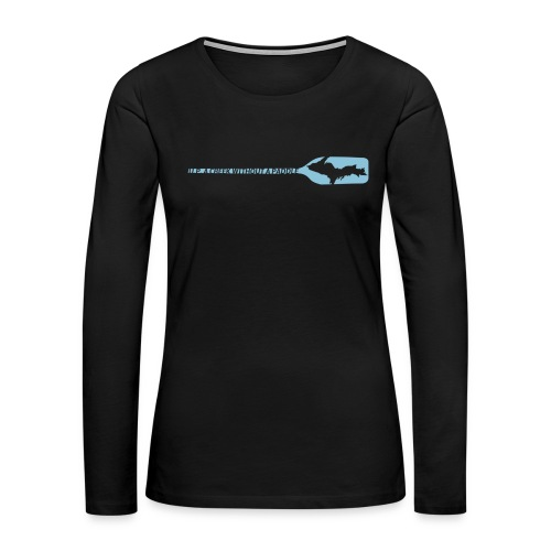 U.P. a Creek - Women's Premium Slim Fit Long Sleeve T-Shirt