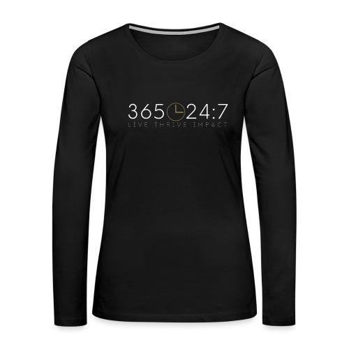 365:24:7 Lifestyle - Women's Premium Long Sleeve T-Shirt