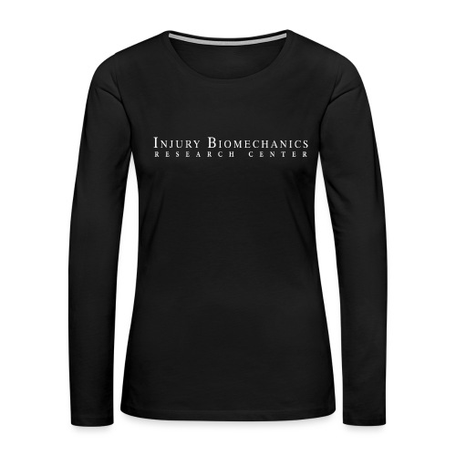 IBRC White Text with Fighting Skeleton on Back. - Women's Premium Slim Fit Long Sleeve T-Shirt