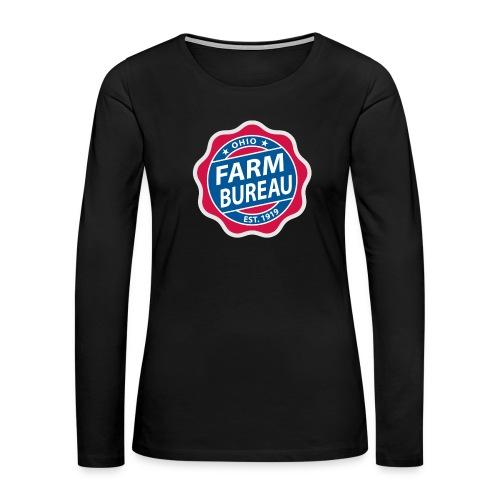 Color Logo - Women's Premium Slim Fit Long Sleeve T-Shirt