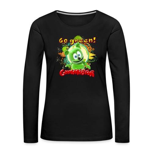Gummibär Go Green Earth Day Trees - Women's Premium Long Sleeve T-Shirt