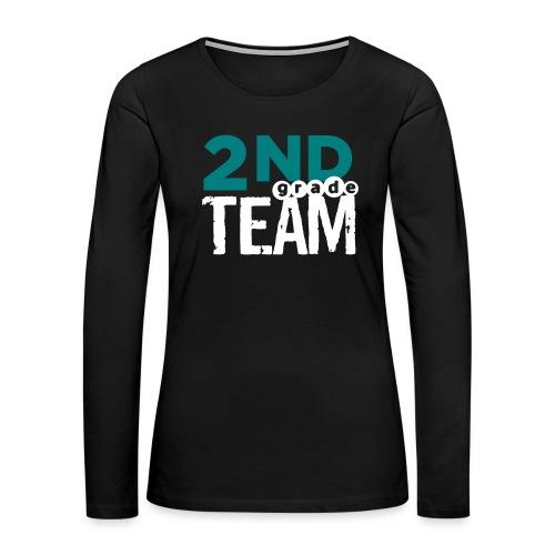 Bold 2nd Grade Team Teacher T Shirts - Women's Premium Long Sleeve T-Shirt