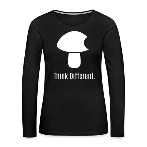 Think Different. - Women's Premium Slim Fit Long Sleeve T-Shirt
