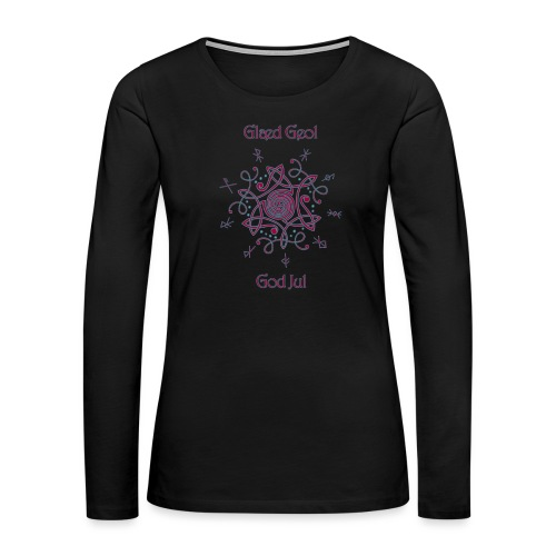 Happy Yule - Women's Premium Slim Fit Long Sleeve T-Shirt