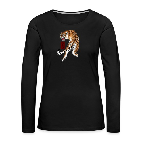 Beta12 / Japanese Tiger - Women's Premium Long Sleeve T-Shirt